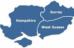 Hampshire, Surrey, West Sussex